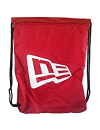 New Era Branded Gym Sack Red White OSFA Draw String Bag Backpack Turnbeutel
