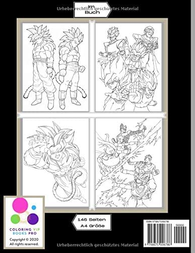 Dragon Ball Dbz Dragonball Malbuch Fur Kinder Und Erwachsene Viel Spass Beim Ausmalen 70 Hd Illustration Sammlung Von Dragon Ball Z Kai Gt Super Saiyajin Und Mehr German Edition Books