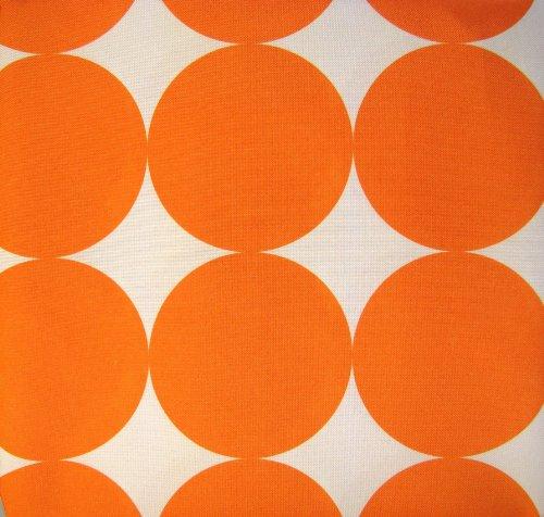 io-N102 Soleil BIG DOTS Geo Print Summer Tablecloth Indoor Outdoor Spill-proof Bold Orange White (Dot Soleil)