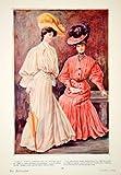 1904 Color Print Edwardian Women Fashion Clothing