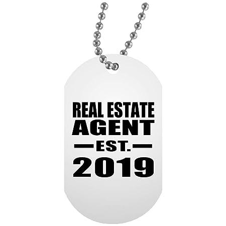 Real Estate Agent Established EST. 2019 - White Dog Tag ...