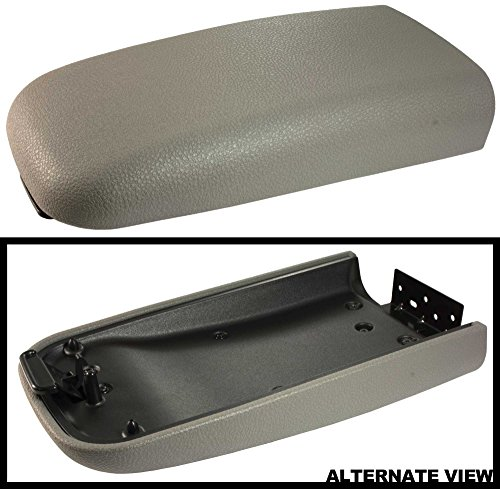 APDTY 035937 Center Console Replacement Lid Armrest Assembly Light Gray Color 02-09 Trailblazer, 02-09 GMC Envoy, 02-04 Oldsmobile (03 Chevy Console)