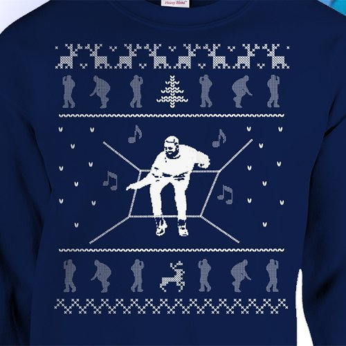 Drake Hotline Bling Ugly Christmas Sweater Crewneck Funny Dance Navy Music Hip Hop Rap More Life by SundayBest