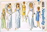 Simplicity 6823 Vintage Sewing Pattern Misses Wedding Bridesmaid Evening Dress Size 12 Bust 32