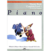 Alfred's Basic Piano Library Piano Course, Theory Book Complete Level 1: For the Later Beginner book cover