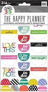 Me & My Big Ideas Create 365 The Happy Planner Brights To Do Stickers, 6 Sheets