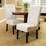 Alexander Natural Fabric Dining Chair (Set of 2)