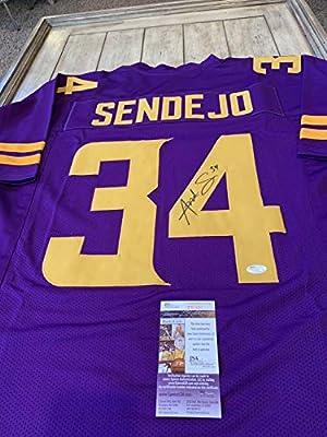 Andrew Sendejo Autographed Signed Autographed Signed Jersey JSA COA Minnesota  Vikings Pro Bowler - Size XL ad97324de