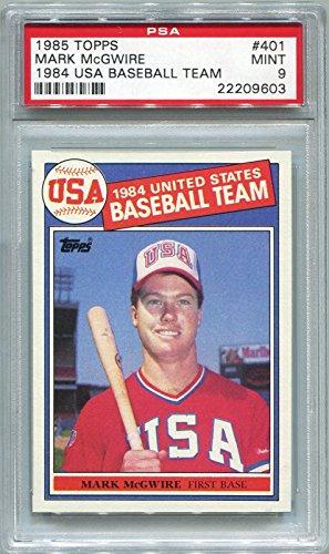 1985 Topps Mark McGwire Rookie Team USA #401 PSA 9 MINT (...