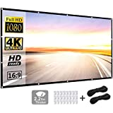 Projector Screen 120 inch 16:9 HD Foldable Anti-Crease Portable Projection Movies Screen for Home Theater Outdoor Indoor Support Double Sided Projection by P-JING