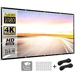 120 Inch 16:9 HD Projector Screen, P-JIN...