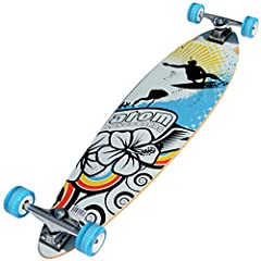 The Atom Pintail Longboard's classic deck shape means that you won't get wheel bite when you're carving your hardest.The Atom Pintail Longboard is an ideal entry-level longboard at an affordable price, and its classic deck shape means you won...