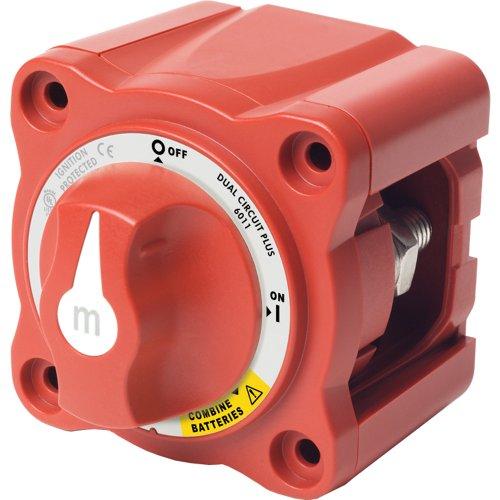 Blue Sea 6011 m-Series Mini Battery Switch Dual Circuit (Dual Circuit Plus Battery Switch)