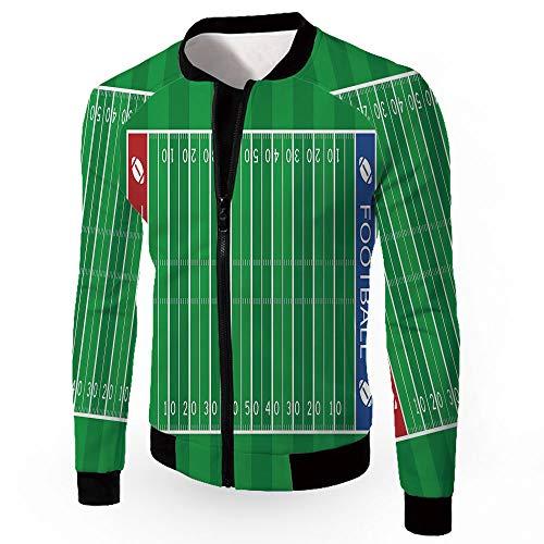 Bomber Jacket,Football,Men's Lightweight Zip-up Windproof Windbreaker Jacket,AME