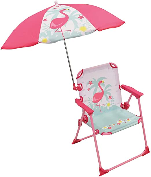 FLAMINGO Kids Children Garden Patio Furniture Set Table Chairs Parasol Foldable