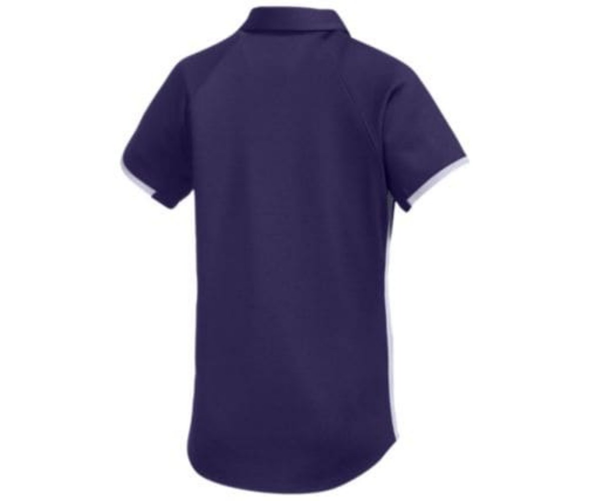 Under Armour Women's UA Rival Polo (Large, Purple-White) by Under Armour