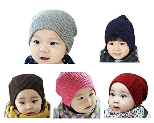 Geoot Baby Boy's Girls Hat Cool Knit Beanie Warm Winter Cap Set Of 5 (Golf Halloween Costume)