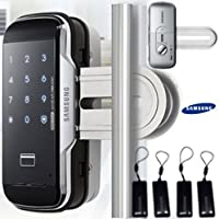 Striker for double door + 4pcs of Key Tags + SAMSUNG SHS-G510 digital door lock keyless touchpad security EZON for Window Door