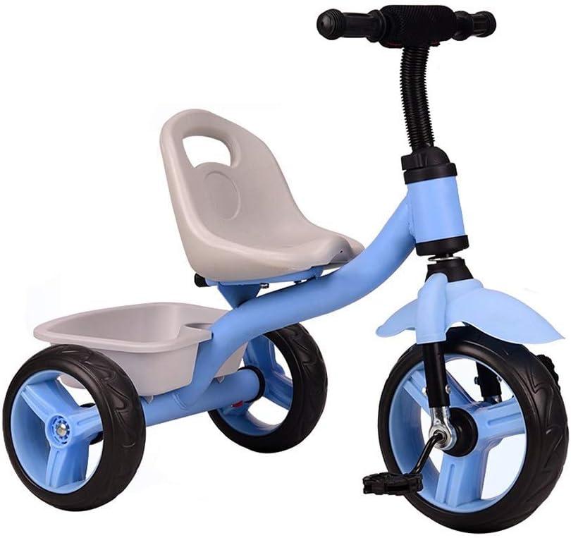 YGB Triciclo para bebés, Juguete Inflable Resistente al Desgaste Neumático Amortiguador Bicicleta portátil para bebés Montaje de niños pequeños Bicicleta para Caminar Rueda de Equilibrio p