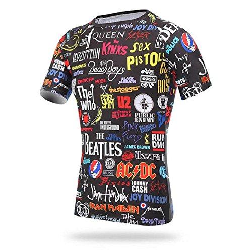 xintown rock Men's Cycling short Sleeve Jacket Bicycle Shirt Cycling Clothing T-Shirts Cycling - Jackets Poly View Quick