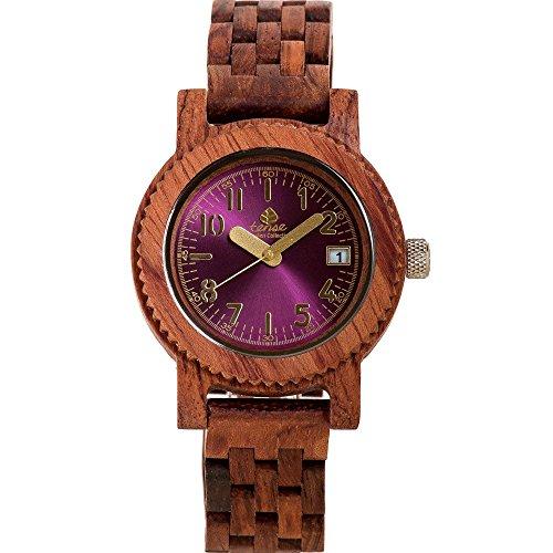 Tense M5200R Mini Yukon Men's Wood Case and Bracelet Pink...