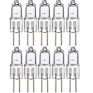 [10 Pack] Simba Lighting Halogen G4 T3 20 Watt 280lm Bi-Pin Bulb 12 Volt A/C or D/C for Accent Lights, Under Cabinet Puck Light, Chandeliers, Track Lighting, 20W 12V 2 Pin JC Warm White 2700K Dimmable
