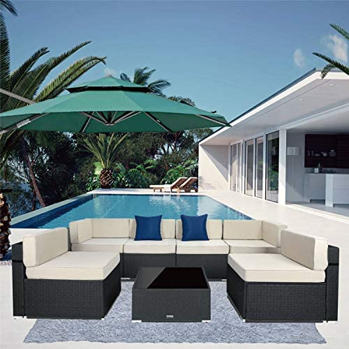 7 Pieces Outdoor Sectional Patio Furniture Set
