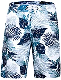 efee6bccda Men's Swim Trunks Quick Dry Board Shorts Beach Holiday Swimwear Print  Bathing Suits with Mesh Lining