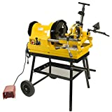 Steel Dragon Tools 6790 Power Pipe Threader Threading Machine 1/4'' - 4'' Capacity with Foot Switch, Self-Oiling Die Head, and Cart