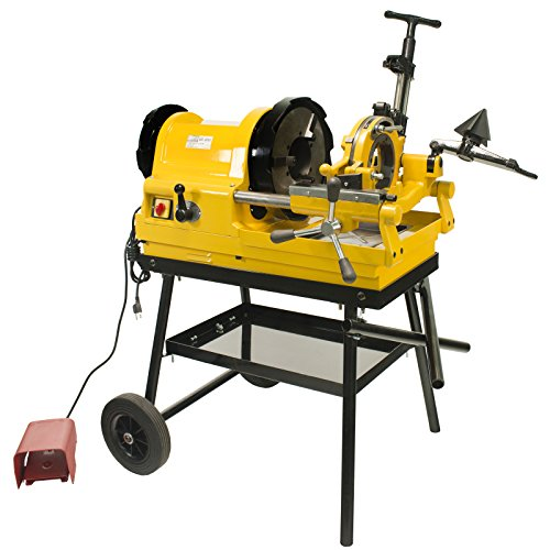 Steel Dragon Tools 6790 Power Pipe Threader Threading Machine 1/2in. - 4in. Capacity with Foot Switch Self-Oiling Die Head and -