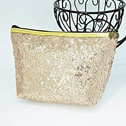 Sequins Refreshing Bling Makeup Champagne Colour Pouch