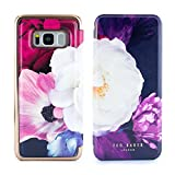 Official TED BAKER® Samsung Galaxy S8 - Luxury Folio Case / Cover in Flower Design for Women with Built-In Interior Mirror for Galaxy S8 2017 - CANDACE - Blushing Bouquet
