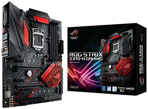 ASUS ROG Strix Z370 H Gaming LGA1151 Intel 8th Gen DDR4 HDMI DVI M2 Z370 ATX Motherboard with Gigabit LAN and USB 31