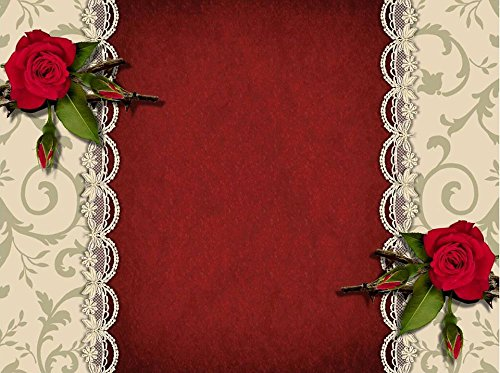 Red Book Poster (Gifts Delight LAMINATED 32x24 inches Poster: Guestbook Background Greeting Card Great Red Texture Roses)