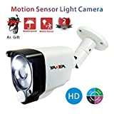Motion Sensor Camera 2.0MP/1080P Wired HD TVI/CVI/AHD CCTV Security Smart Alarm Light Camera with Heat Based Motion Detection with YADEA Night Vision Indoor/Outdoor Security Camera