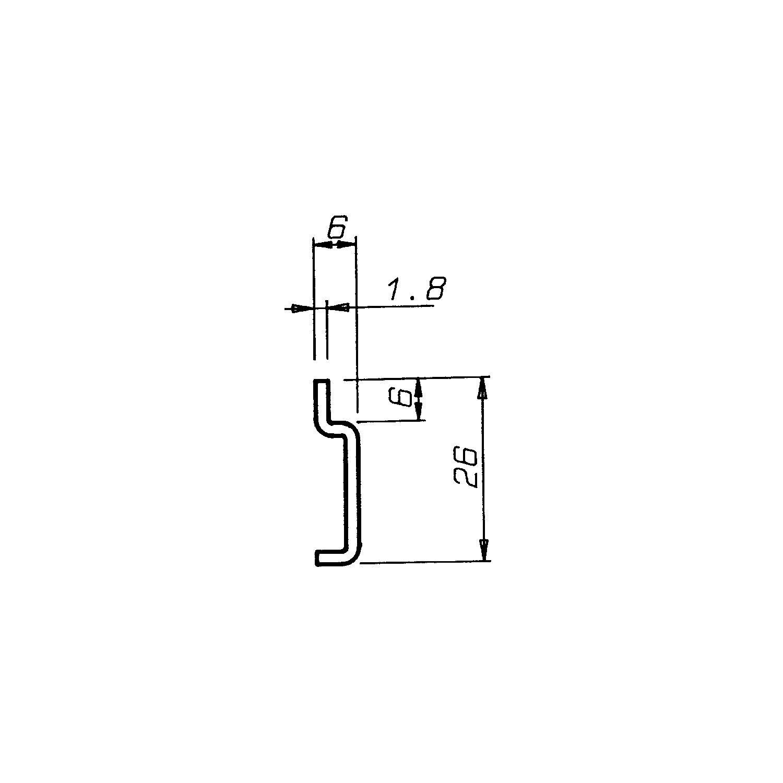 2 Stück - Wandschiene Schrankaufhänger-Schiene Aufhängeschiene für ...