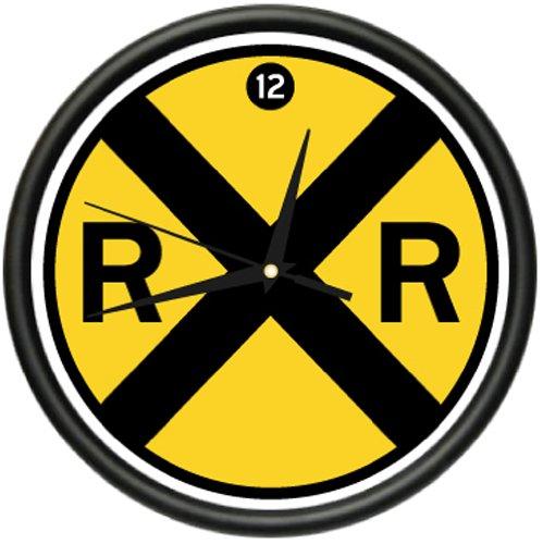 railroad-wall-clock-sign-crossing-xing-model-track-rr