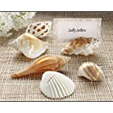 Set of Twelve Kate Aspen Authentic Seashell Place Card Holders and 50 Embossed Place Cards From Top Drawer