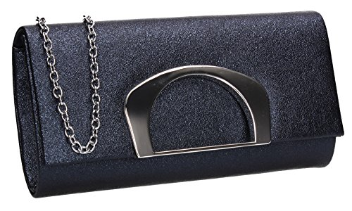 Bag Wedding Out Evening Celebrity Night Marcie Party Ladies SWANKYSWANS Prom Navy Clutch wqtavXn