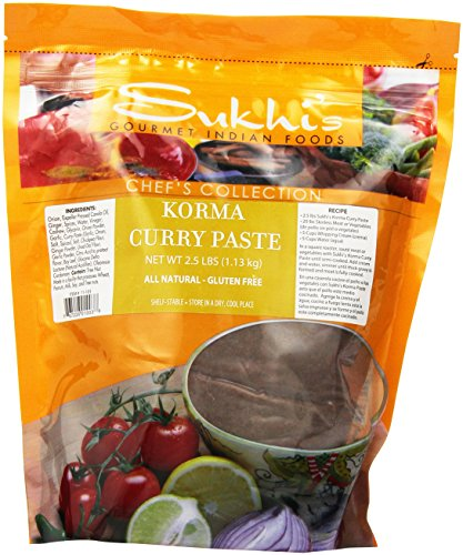 Sukhi's Gourmet Indian Foods Curry Paste, Korma, 2.5 Pound
