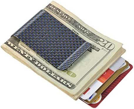 Carbon Fiber Money Clip Minimalist Wallet Front Pocket Slim Wallet Credit Business Card Holder – PAL&SAM