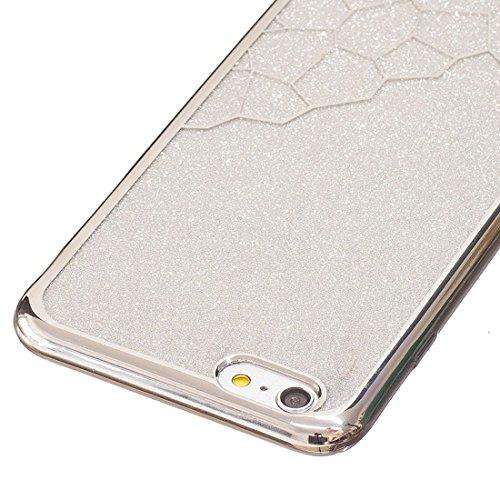 Phone Taschen & Schalen Für iPhone 6 Plus / 6s Plus, Galvanisieren Kleine Würfel TPU Schutzmaßnahmen zurück Fall Fall ( Color : Silver )