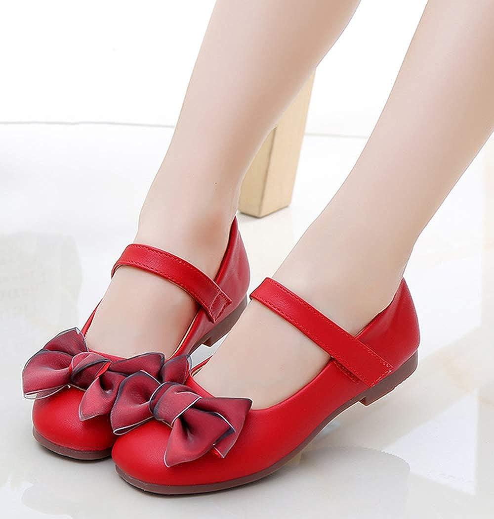 Toddler//Little Kid//Big Kid Lnafan Girls/' Sweet Bows Ankle Strap Princess Dress Shoes Mary Jane Flats