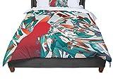 KESS InHouse Danny Ivan ''Soccer Headshot'' Teal Red Twin Comforter, 68'' X 88''