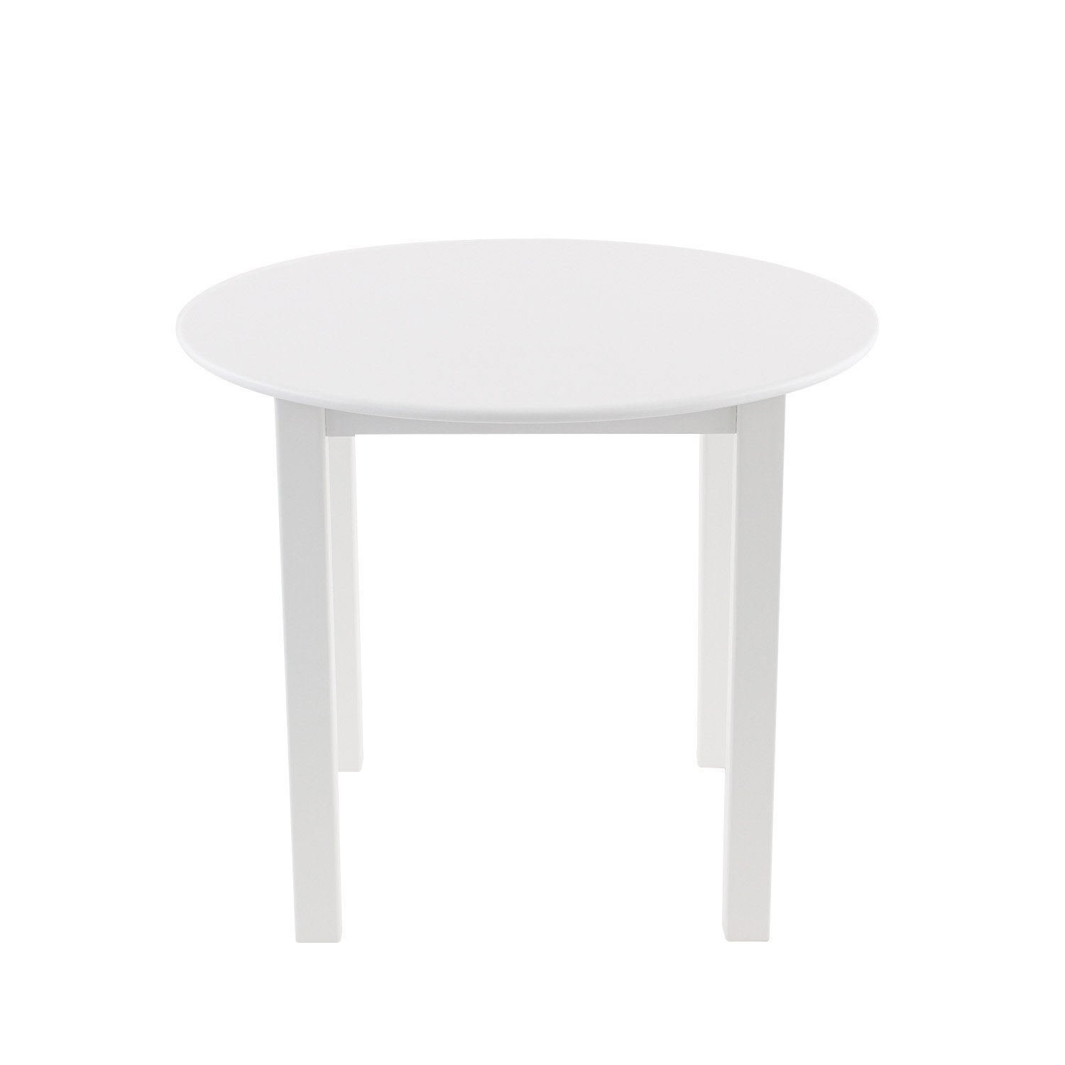 Max & Lily Natural Wood Kid and Toddler Round Table, White by Max & Lily (Image #3)