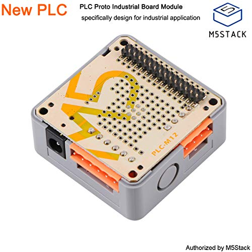 M5Stack PLC Proto Industrial Board Module Support DC9-24V Power Input Contains RS485 Programmable Logic Controller Relay with Magnet and DINRail for Arduino DIY