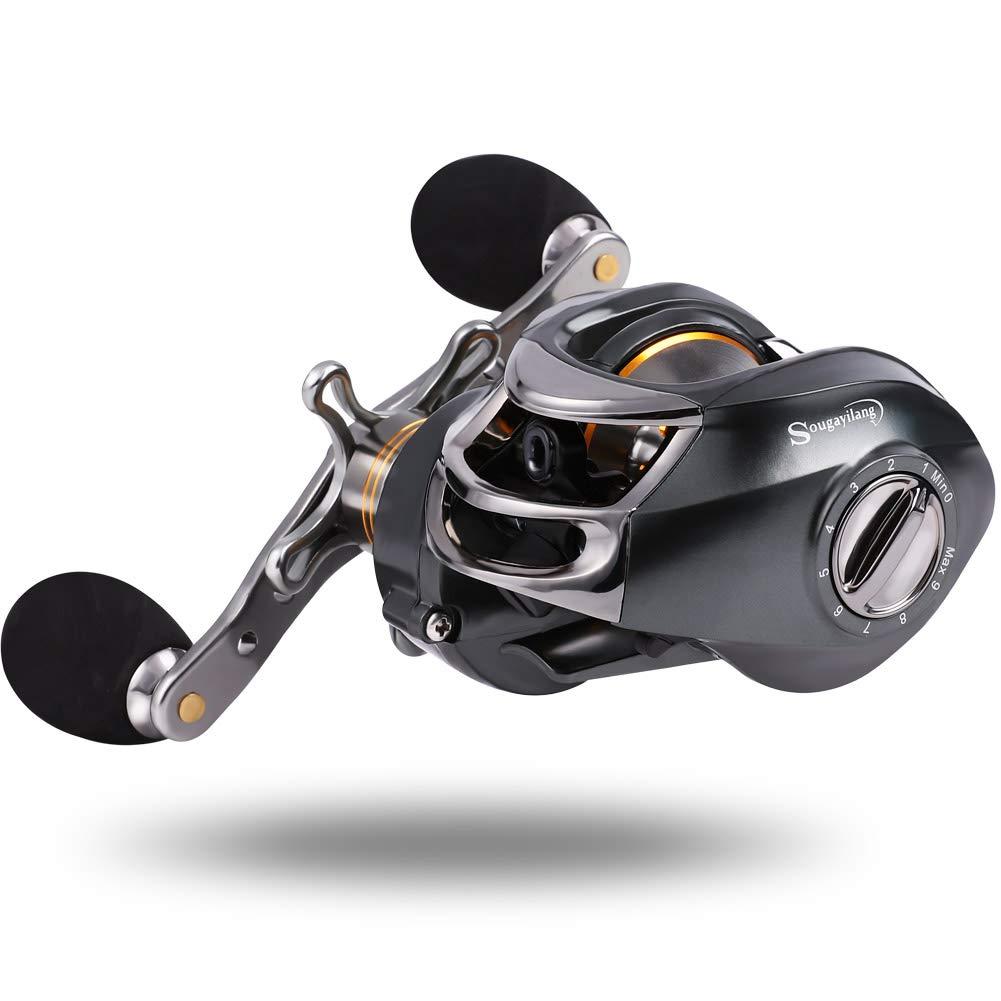 Sougayilang Baitcasting Fishing Reel, 11 1 Shielded Bearings, 18LB Carbon Fibre Drag, 7.0 1 Baitcsters,Magnetic Brake System Fishing Reel