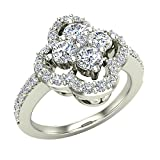 1.00 ctw Diamond Loop Ring Cluster 18K Gold (G,SI)