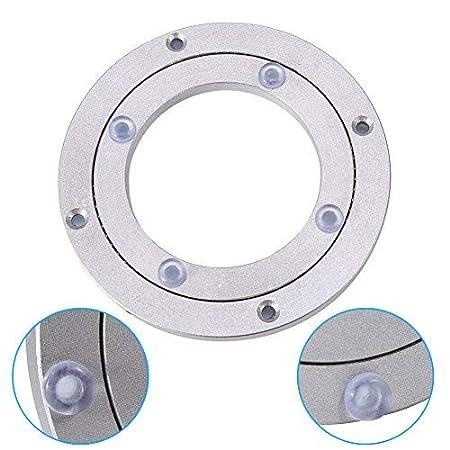 Placa giratoria giratoria Lazy Susan Aleaci/ón de aluminio de alta resistencia Rodamiento giratorio Mesa redonda de comedor Mesa giratoria lisa Placa giratoria para caleidoscopios 10 pulgadas