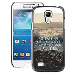 A-type Arte & diseño plástico duro Fundas Cover Cubre Hard Case Cover para Samsung Galaxy S4 Mini i9190 (NOT S4) (God Motivational Quote Inspiration)